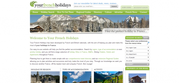French Holidays Luxury Villas France Self Catering Accommodation France Holiday Gites in France Skiing Chalet France Your French Holidays