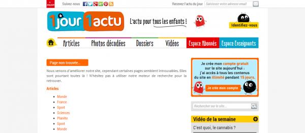 Page introuvable 1jour1actu L actu pour tous les enfants