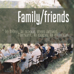 French vocabulary: Family/ friends