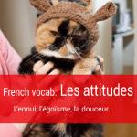 "33 French vocabulary to express ""attitudes"" (les attitudes)"