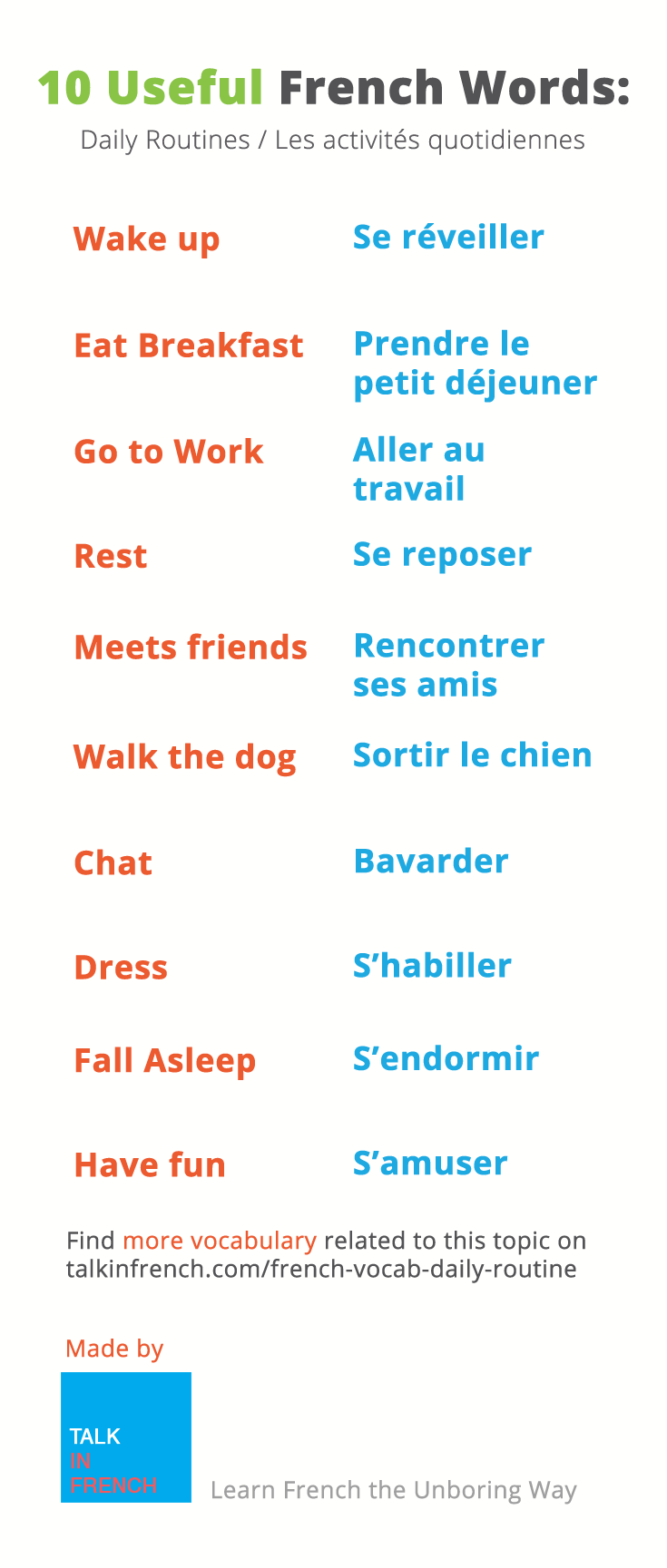 Essay words french