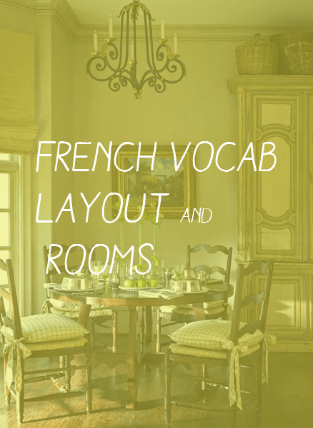 French Home Vocabulary 27 Words To Help You Find Your Way Around