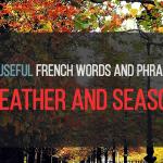 French Vocab: Weather and Seasons. La météo et les saisons