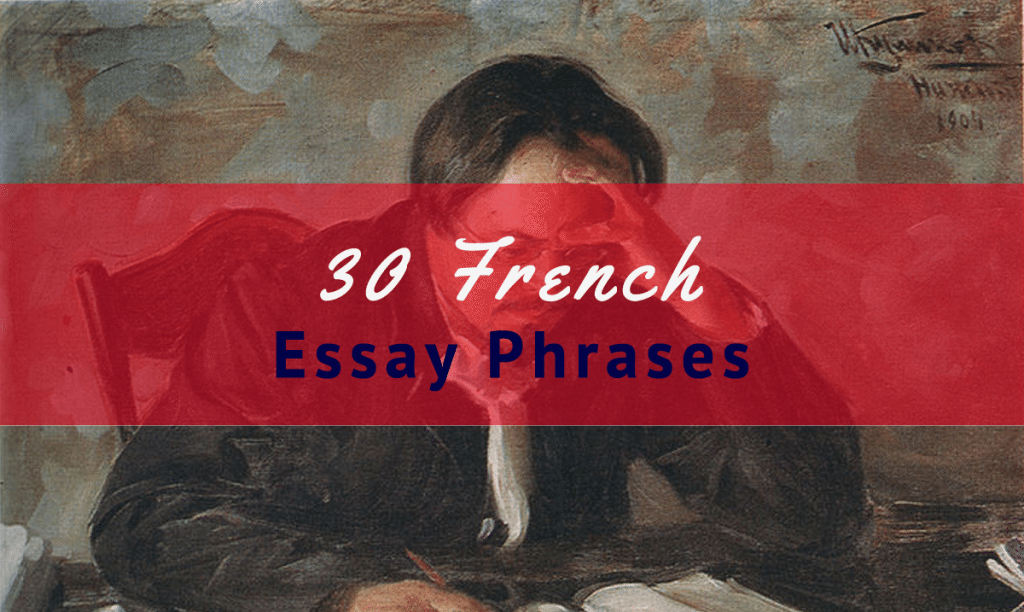Writing essays in french