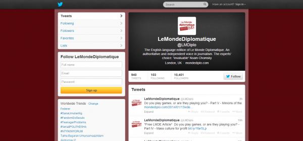 LeMondeDiplomatique LMDiplo on Twitter