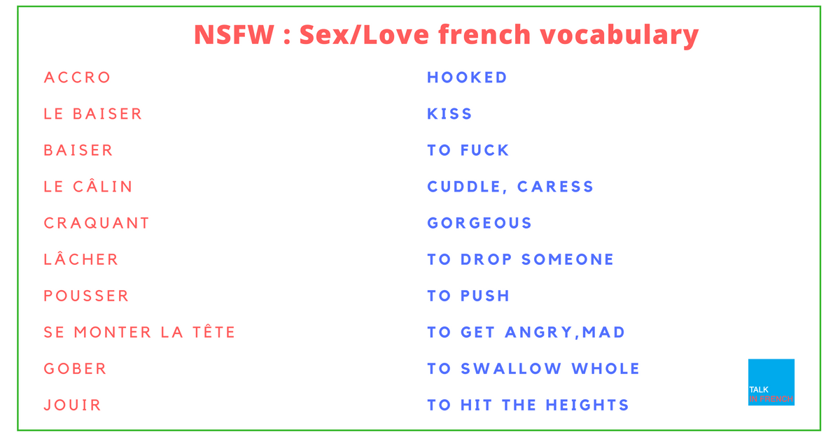 [NSFW] French vocab: Love/ SEX