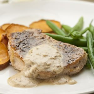 Pork Chops Poivre