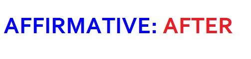 affirmative - after