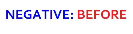 negative- before