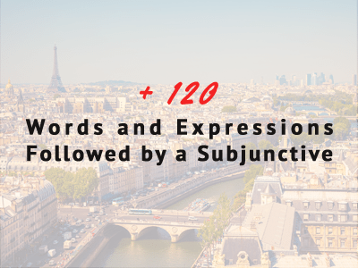 french subjunctives phrases list of words
