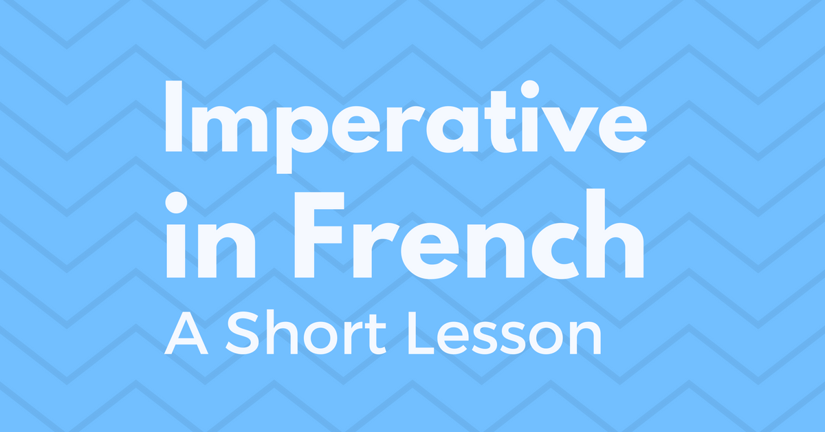 imperative in french 1
