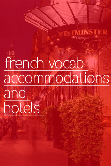 french vocab hotel