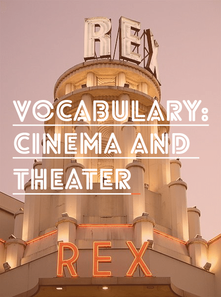 french vocab movie theater