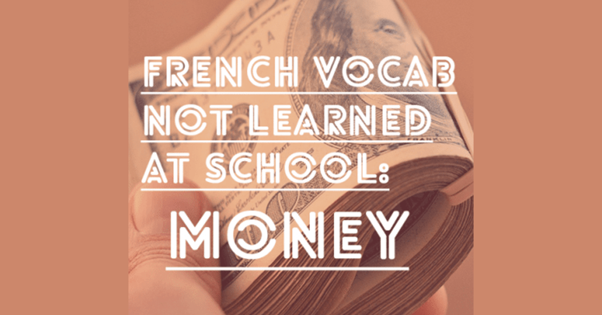 French Vocabulary Money