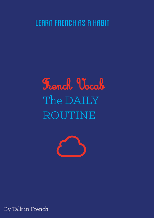 french vocabulary ebook daily routine