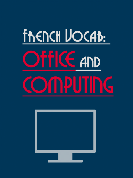 french vocab computer office
