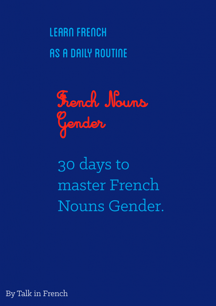 French Nouns Gender Drill