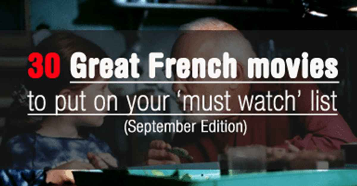 30 French Movies to Watch this September
