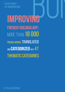 French Vocabulary e-book Talk in French
