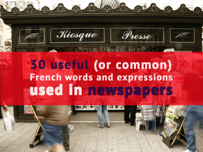 word expressions french newspapers