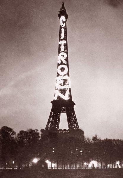 citroen.eiffel tower advertising