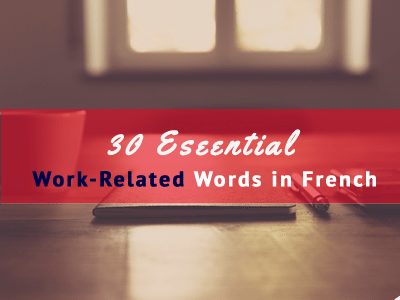 french work related jobs words