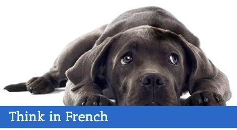 think in french talk in french