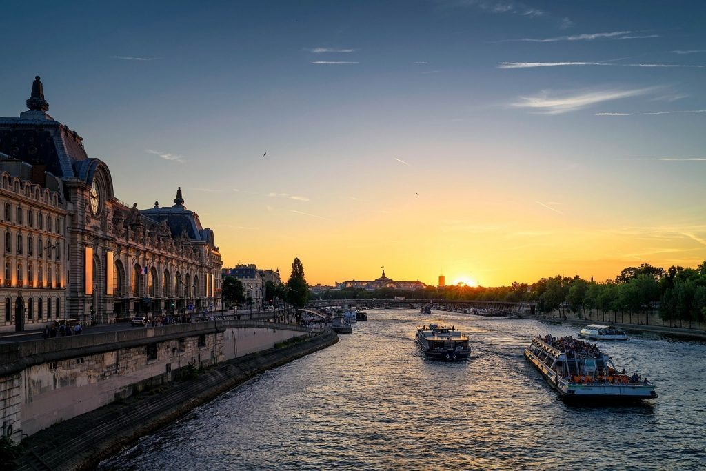 1 Seine River at Sunset