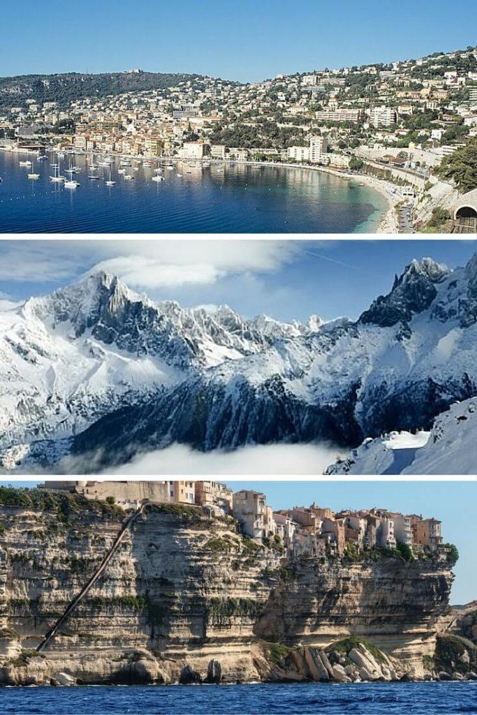 Diverse landscapes in France
