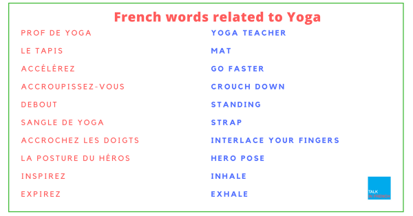 French words related to Yoga