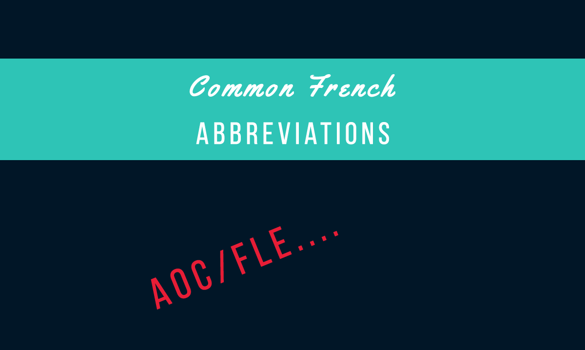 Common French Abbreviations