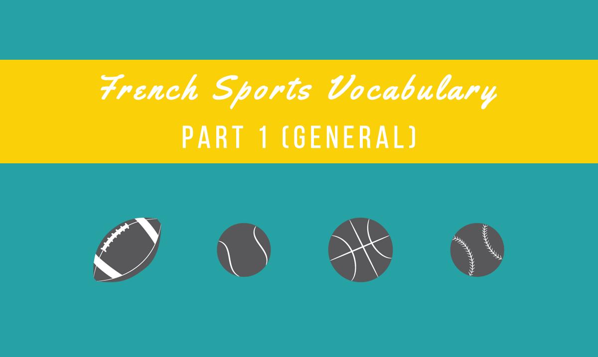 french sports vocabulary