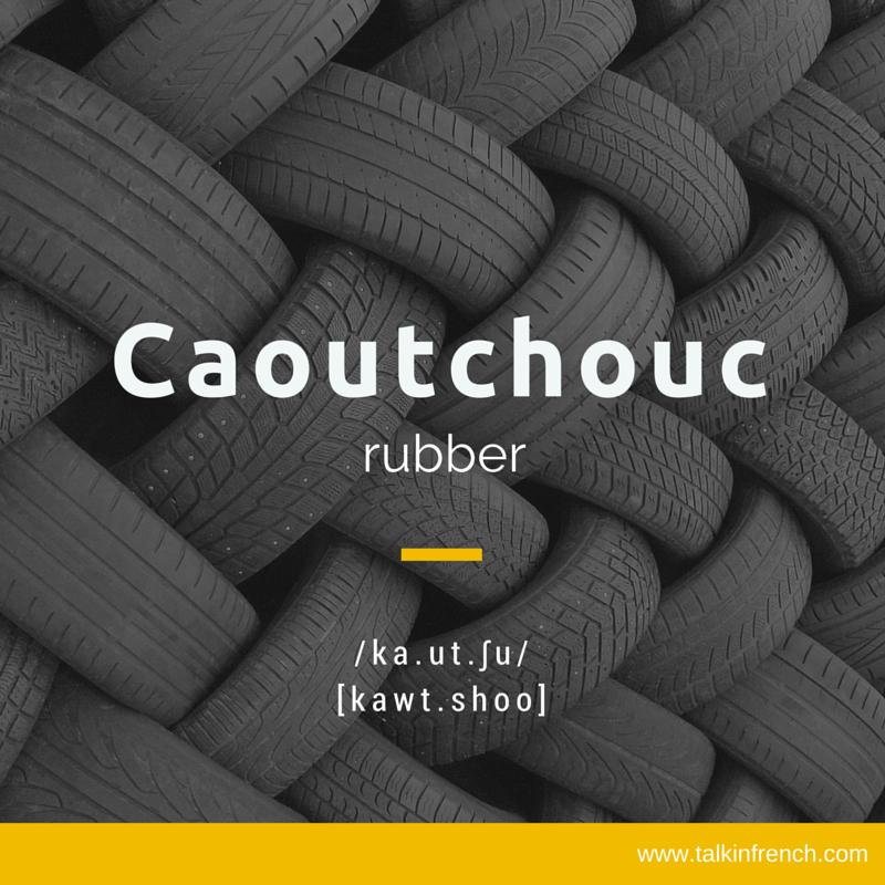 Caoutchouc rubber