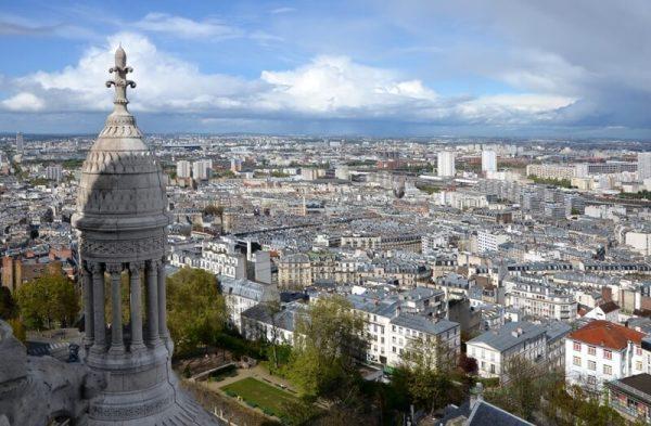 North of Paris viewed from the dôme du Sacré-Cœur