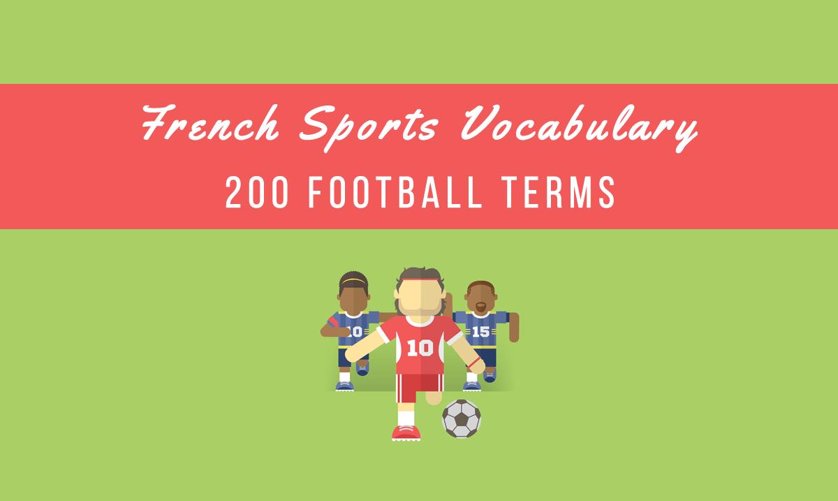 french sports vocabulary football