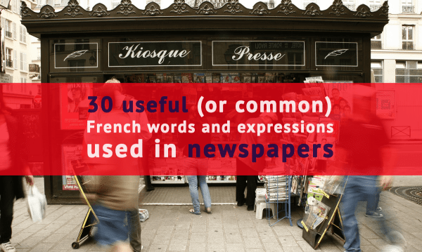 newspaper terms in french