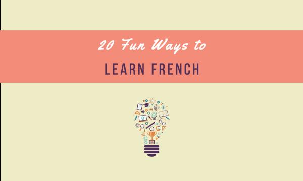 fun ways to learn french