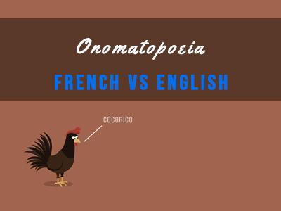 onomatopoeia french vs english