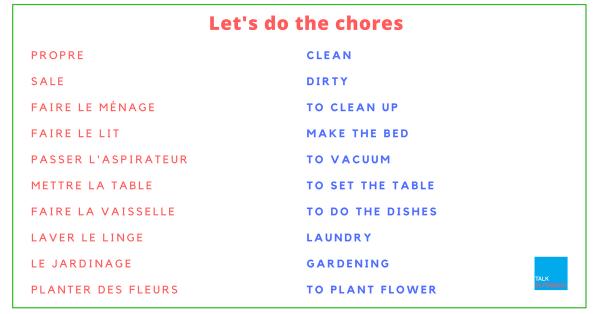 do the chores