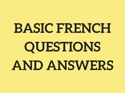 Basic French Questions and Answers | Talk in French