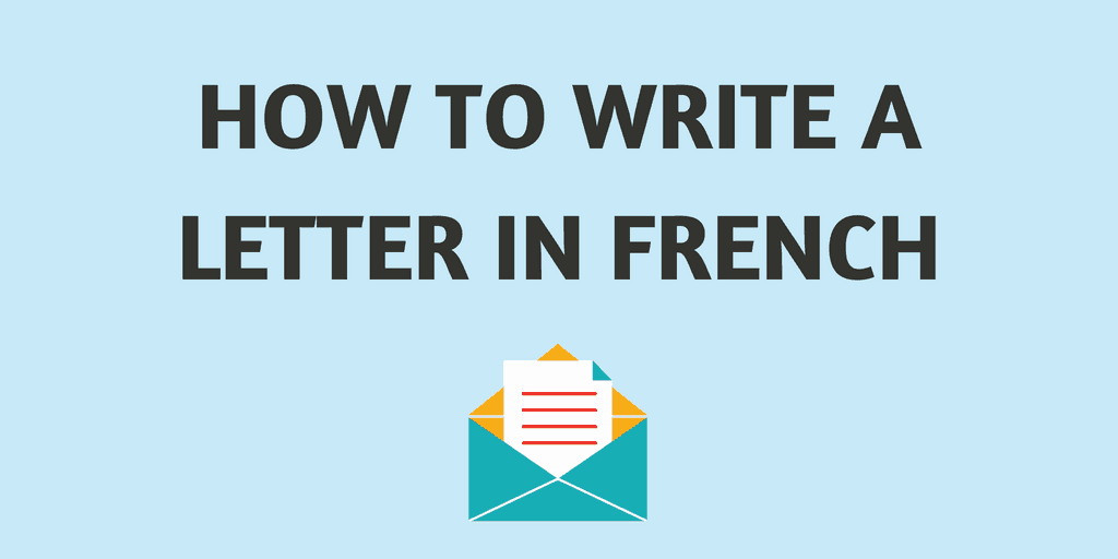 letter in french