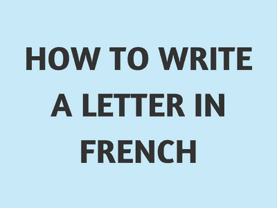 How do you write yours sincerely in french