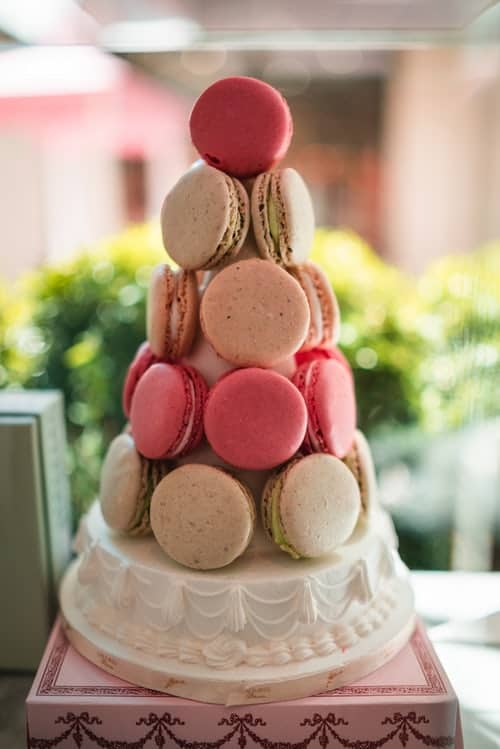 macaron cake tower french weddings