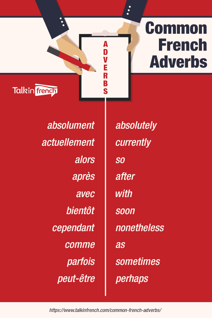 common french adverbs