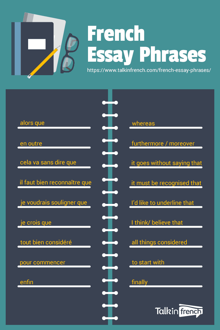 french essay phrases quizlet