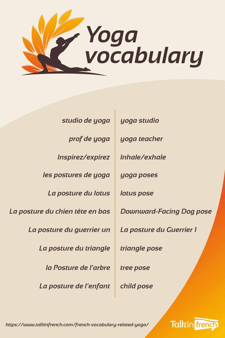 French yoga vocabulary