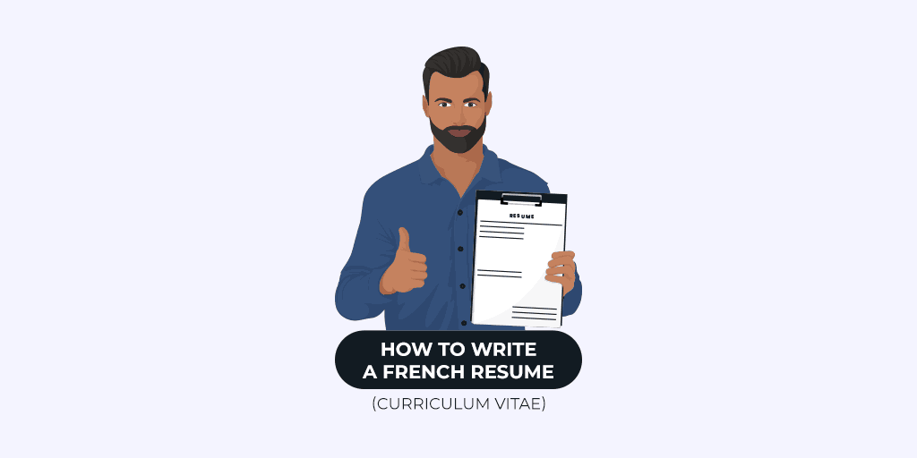 how to write a french resume