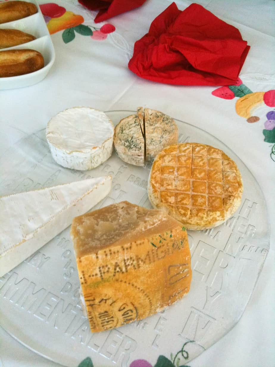 TalkInFrench.com cheese platter