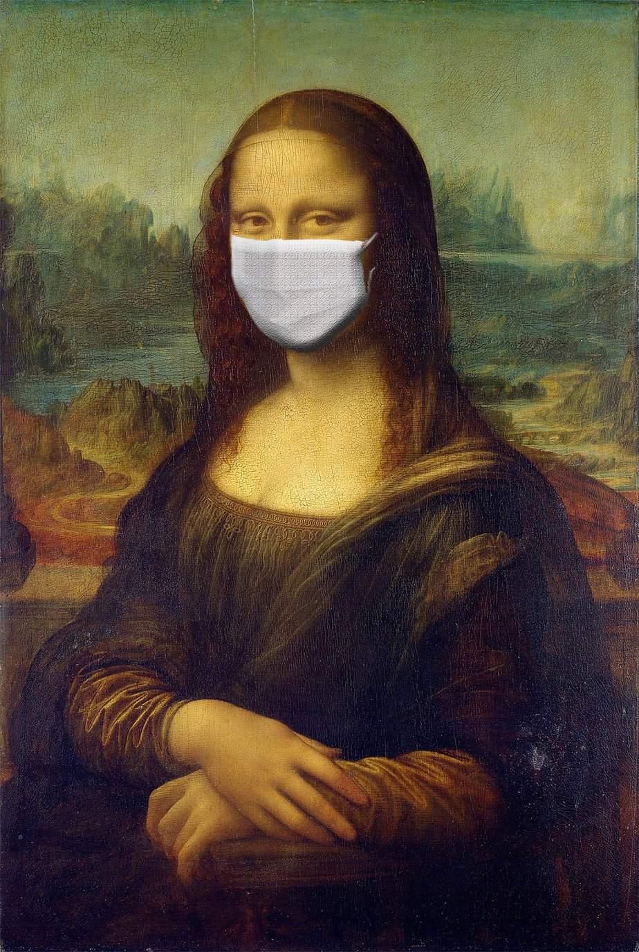 TalkInFrench.com Mona Lisa Mask